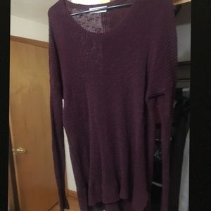 Abercrombie & Fitch Sweaters - Abercrombie & Fitch Plum Lightweight Sweater